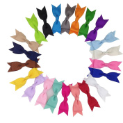 22pcs 8.9cm Mini Pinwheel Hair Bows Cheerleading Bows For Hair Set Of 22 Colours