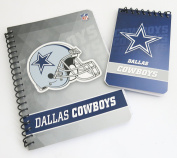"Dallas Cowboys, journals and memo pads . 4 piece set includes 2 5 x 7["""
