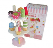 1 Set Mother Garden Wooden Kids Toy Play House Strawberry Ice Cream Stand Gifts Children Toy