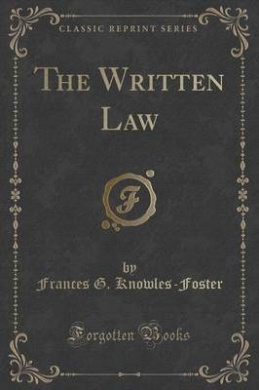 The Written Law (Classic Reprint)