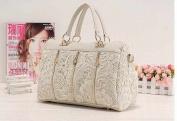 White Lace Tote Bag