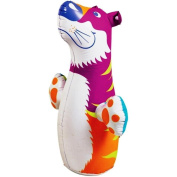 (Ship from USA) 3D Bop Bag Pink Tiger - Inflatable Blow Up Punching Bag Toy,Gift, For Kids Fun -ITEM#