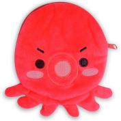 Red Octopus Cute Cartoon Design Lovely Small Zipper Coin Purse Pouch Bag New