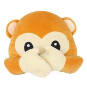 Granny's Best Deals (C) 30cm Emoji Emoticon Monkey Speak no evil Face Stuffed Baby Plush Toys Doll-New!