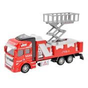 1:48 Scale Alloy Construction Vehicle Playset Pull Back Action Diecast Wrecking Car Model Toys Fire Engine Rescue Wrecker Truck Toy for Preschool Toddler Kids Children up 3 yrs, Christmas Gift
