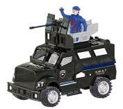 City Rescue Armoured Police SWAT Truck Vehicle with Lights & Sounds