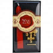 """JAM Paper Wax Seal Set - Brass Seal Stamp with Monogram letter """"Q"""" & Wax Stick - Sold Individually"""