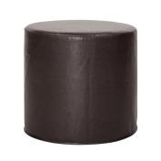 Howard Elliott 851-194 No Tip Cylinder Ottoman, 46cm x 43cm , Avanti Black