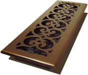 Decor Grates Scroll Plated Register, Rubbed Bronze Finish, 10cm x 36cm