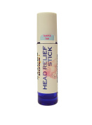 Headache Relief Stick Roll On. An All-Natural Essential Oil Aromatherapy Blend for Migraine, Tension & Sinus Headaches; 10ml Roller bottle