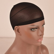 Stretch Unisex Full Nylon Glueless Black Net Wig Caps Netural Nude Beige for Chantiche Lace Wigs