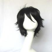 KARNEVA GAREKI Short Black Straight 35cm Cosplay Wig