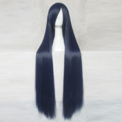 The Irregular at Magic High School Mahouka Koukou no Rettousei Shiba Miyuki Dark Blue 100cm Cosplay Wig