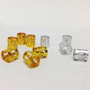 Dread Lock Dreadlocks Braiding Beads Silver Metal Cuffs Hair Accessories Decoration Filigree Tube Silver 6mm 15pcs Pack