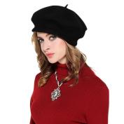 Womens 100% Wool Beret Cap Classic French Artist Basque Beret Tam Solid Colour Winter Warm Beanie Hat Cap Fashion French Beret Hat Novelty Headwear Visor