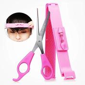 EYX Formula Artefact cut bangs Hair Thinning Scissors,Teeth Hair Shears DIY Hair Band Hair Cutting Tool kit