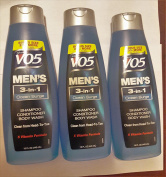 3 Pk, Alberto VO5 Men's 3-in-1 Shampoo Conditioner Body Wash , Ocean Surge 440ml