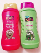 2 pck - Kids 2 in 1 Shampoo and Conditioner Green Apple and Watermelon 350ml