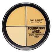 City Colour - Foundation Wheel, Cream to Powder Palette - Light to Medium