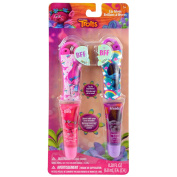 Dreamworks Trolls Licenced Best Friends 2pk BFF Lip Gloss With Tube Carrier