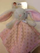 Blankets & Beyond Bunny with Pink Dotted Security Blanket