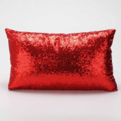 Ikevan Hot Selling Sequins Pillowcase Sofa Bed Home Decoration Festival Pillow Cover Cushion Cover(30cm x 50cm )