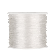 Outus 1 mm Elastic Stretch Beading Thread Craft Jewellery Bracelet Making Cord String, 90 m, Clear