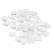 Outus 48 Pieces Glass Dome Cabochons Clear Round Cabochons Tiles, Non-calibrated Round, 25 mm/ 1 Inch