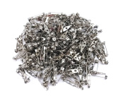yueton 200pcs Metal Double Hole Craft Pin Back Clasp Brooch Safety Pins Bar Pins Findings