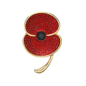 Red Poppy Flowers Brooch Pin Badge Glitter Soldier Enamel Lapel Plating Pin Gift Remembrance Day