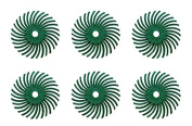 6-Piece Dark Green 3M Micron Radial Rotary Disc Set 2.5cm 50 Grit Jewellery Polishing Metal Finishing Cleaning Tool