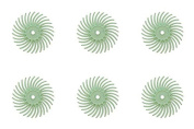 6-Piece Light Green 3M Micron Radial Rotary Disc Set 1.4cm Jewellery Polishing Metal Finishing Cleaning Tool