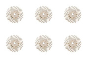 6-Piece White 3M Micron Radial Rotary Disc Set 1.4cm 120 Grit Jewellery Polishing Metal Finishing Cleaning Tool