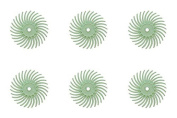 6-Piece Light Green 3M Micron Radial Rotary Disc Set 1.9cm Jewellery Polishing Metal Finishing Cleaning Tool