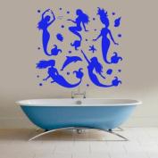 Mermaid Wall Decals Water Decal Vinyl Sticker Kids Art Home Decor Nursery Bedroom Living Room Murals MC8