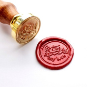 Vooseyhome My Love & Rose Wax Seal Stamp with Rosewood Handle