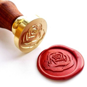Vooseyhome The Rose Wax Seal Stamp with Rosewood Handle