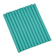 GlueSticksDirect Teal Coloured Glue Sticks mini X 10cm 12 Sticks