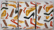 3 Rolls High Heels and Ballet Flats Patterned Duct Tape Bundle