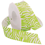 Lime Zebra 2.2cm . x 3.7m Decorative Ribbon - Great for Any Occasion!