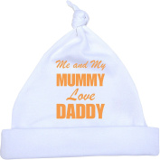 0.3mONE' Me and my Mum Love Daddy Baby Knotted Hat. Newborn-12 months in a choice of 9 Colours