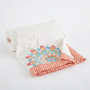 Baby Boho Collection 100cm x 70cm Velour Baby Blanket
