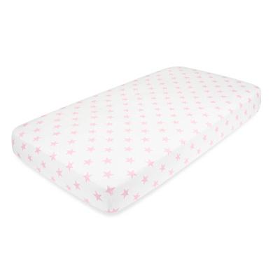 aden + anais premium flannel crib sheet, grace