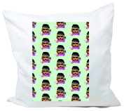 "Cushion Cover 40x40 ""Bad Hair Day Cap in cool casual and chilled design"" Pillowcase- 40 x 40 cm- Pillow- Smiley- Christmas Gift"
