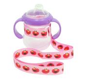3 Pack Petite Creations No Throw Sesame Street Bottle Holder Elmo, Pink