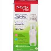 Playtex Nurser Bottle Liners Drop-Ins,BPA-FREE,Unique anti-colic liner gently 100 Count 8-300ml