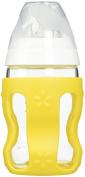 Benir Glass Nurser with Protective Wrap, Clear/White/Yellow, 270ml