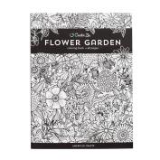 American Crafts 375319 Flower Garden Creative Zen Colouring Book Flower Garden