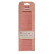 Textured (Pink) Deco Mache x 3 Paper Sheets Tissue Patch Craft Trimcraft