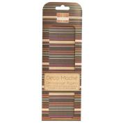 Multi-Stripe (Brown) Deco Mache x 3 Paper Sheets Tissue Patch Craft Trimcraft